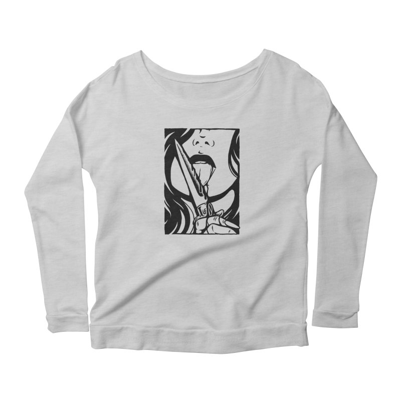 Dangerous Girl Women's Scoop Neck Longsleeve T-Shirt by Deniart's Artist Shop