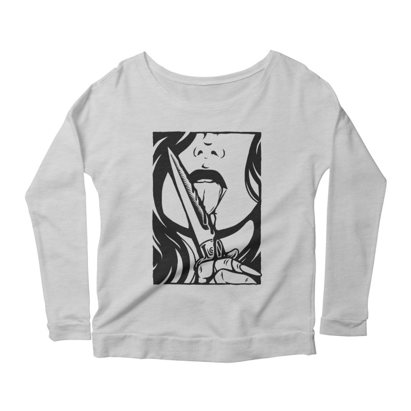 Dangerous Girl Women's Scoop Neck Longsleeve T-Shirt by Deniart's Artist Shop