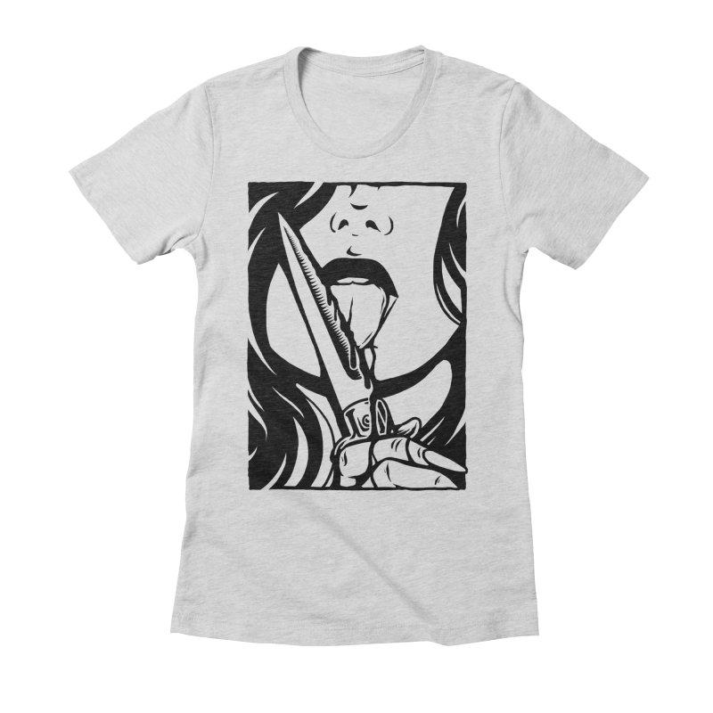 Dangerous Girl Women's Fitted T-Shirt by Deniart's Artist Shop