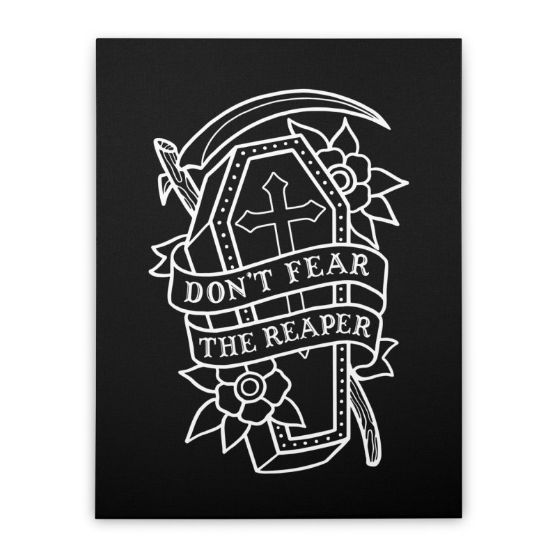 Don't Fear The Reaper Home Stretched Canvas by Deniart's Artist Shop