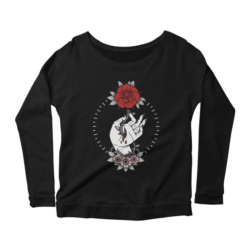 Deadly Love Women's Scoop Neck Longsleeve T-Shirt by Deniart's Artist Shop