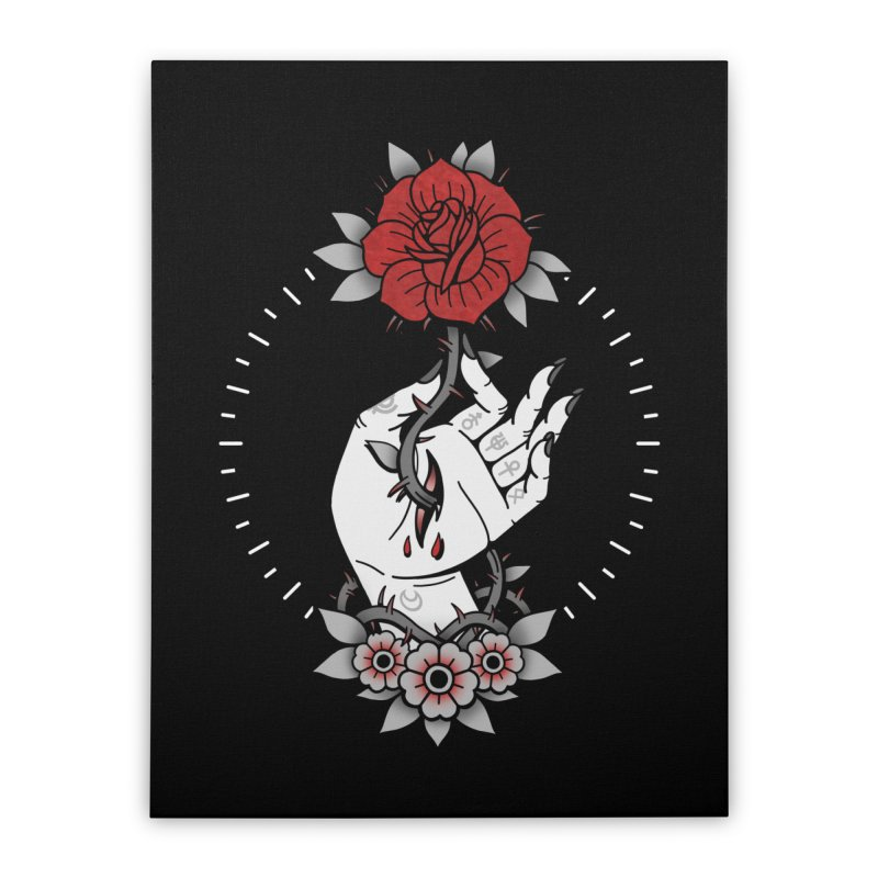 Deadly Love Home Stretched Canvas by Deniart's Artist Shop