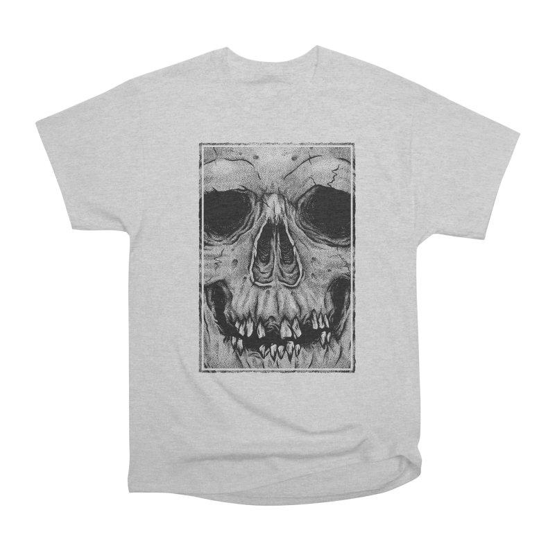 SKULL Men's Heavyweight T-Shirt by Deniart's Artist Shop