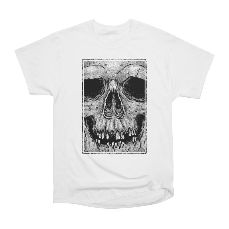 SKULL Women's Heavyweight Unisex T-Shirt by Deniart's Artist Shop