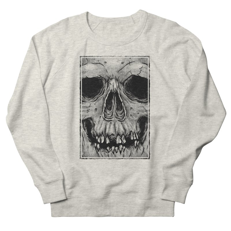SKULL Men's French Terry Sweatshirt by Deniart's Artist Shop