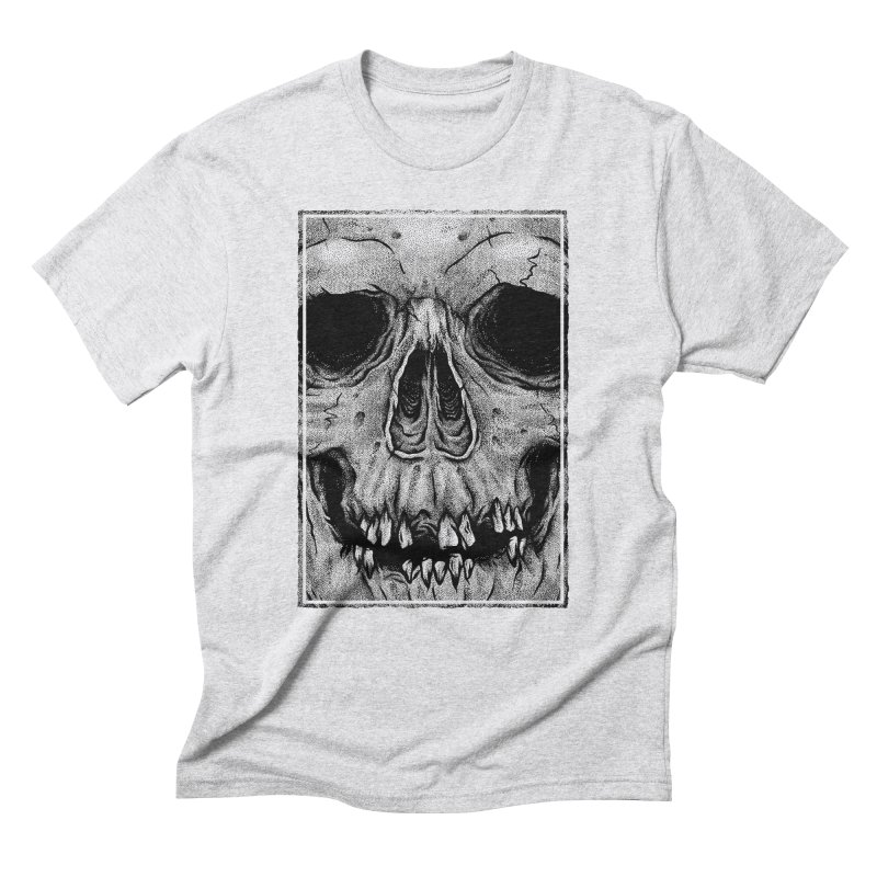 SKULL Men's Triblend T-Shirt by Deniart's Artist Shop
