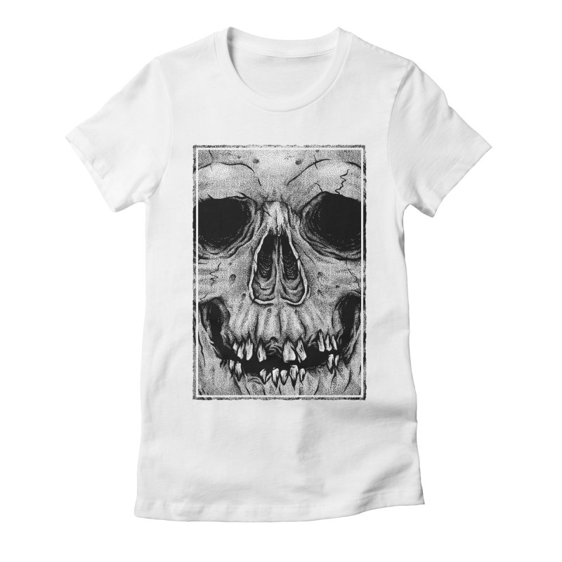 SKULL Women's Fitted T-Shirt by Deniart's Artist Shop