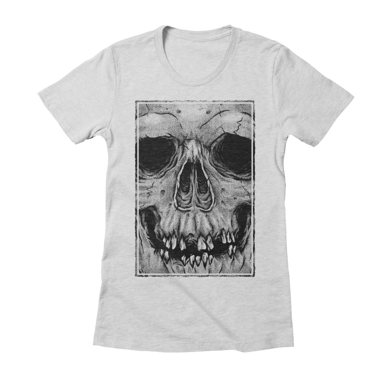 SKULL Women's Fitted T-Shirt by Deniart's Artist Shop