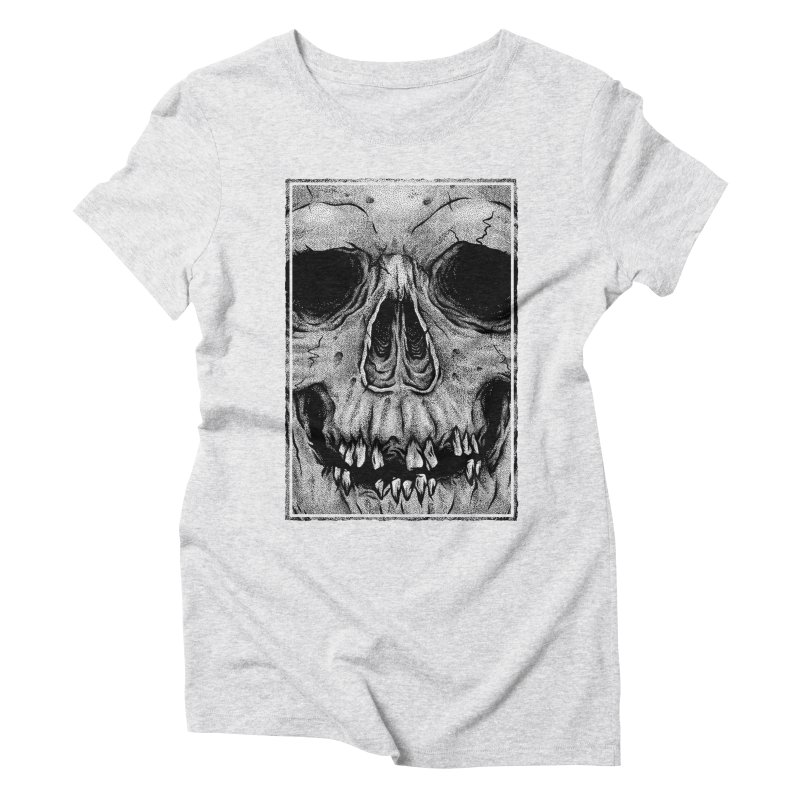 SKULL Women's Triblend T-Shirt by Deniart's Artist Shop