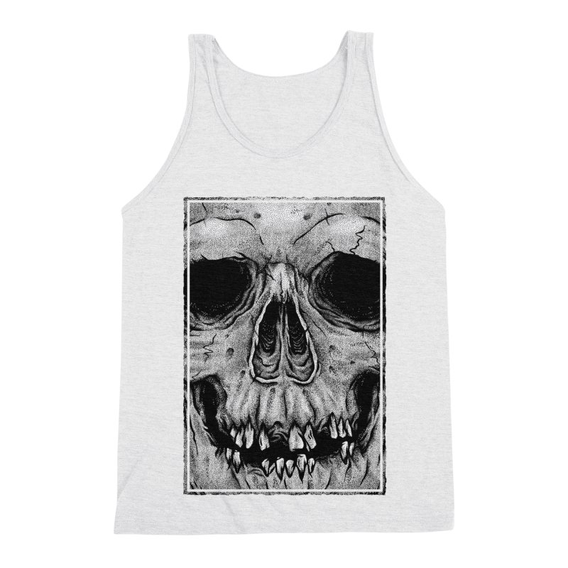 SKULL Men's Triblend Tank by Deniart's Artist Shop