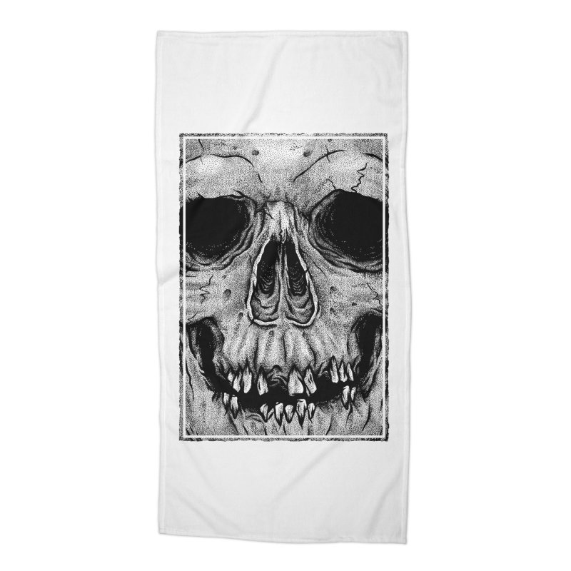 SKULL Accessories Beach Towel by Deniart's Artist Shop