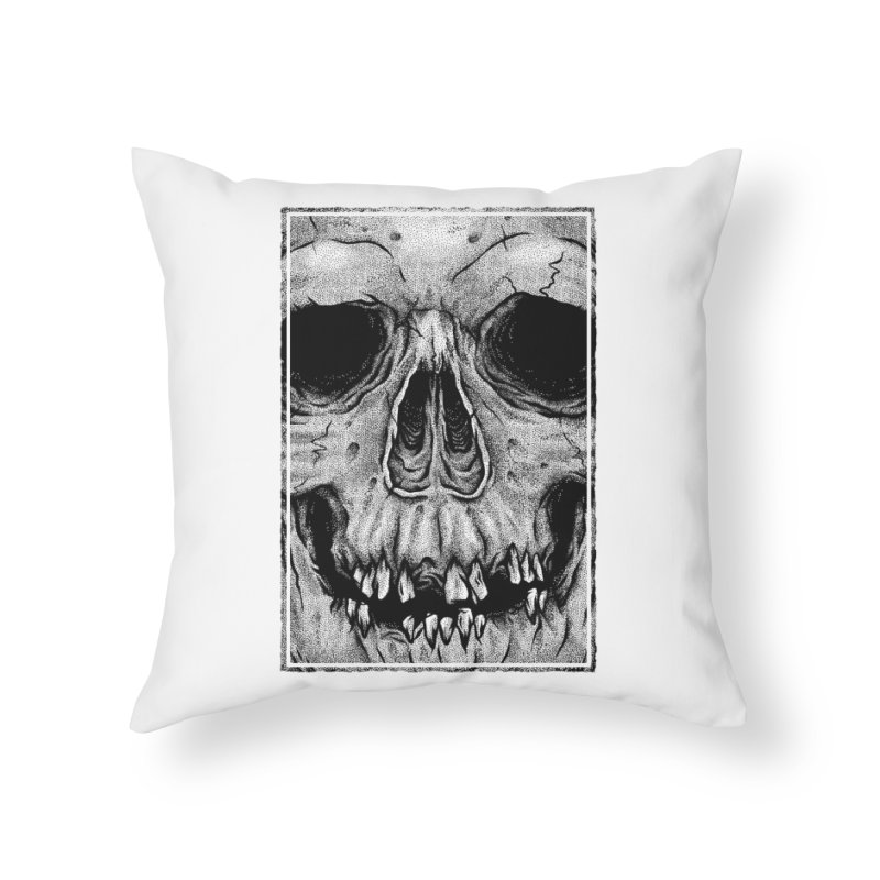 SKULL Home Throw Pillow by Deniart's Artist Shop