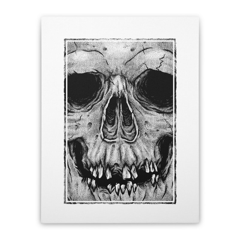 SKULL Home Stretched Canvas by Deniart's Artist Shop
