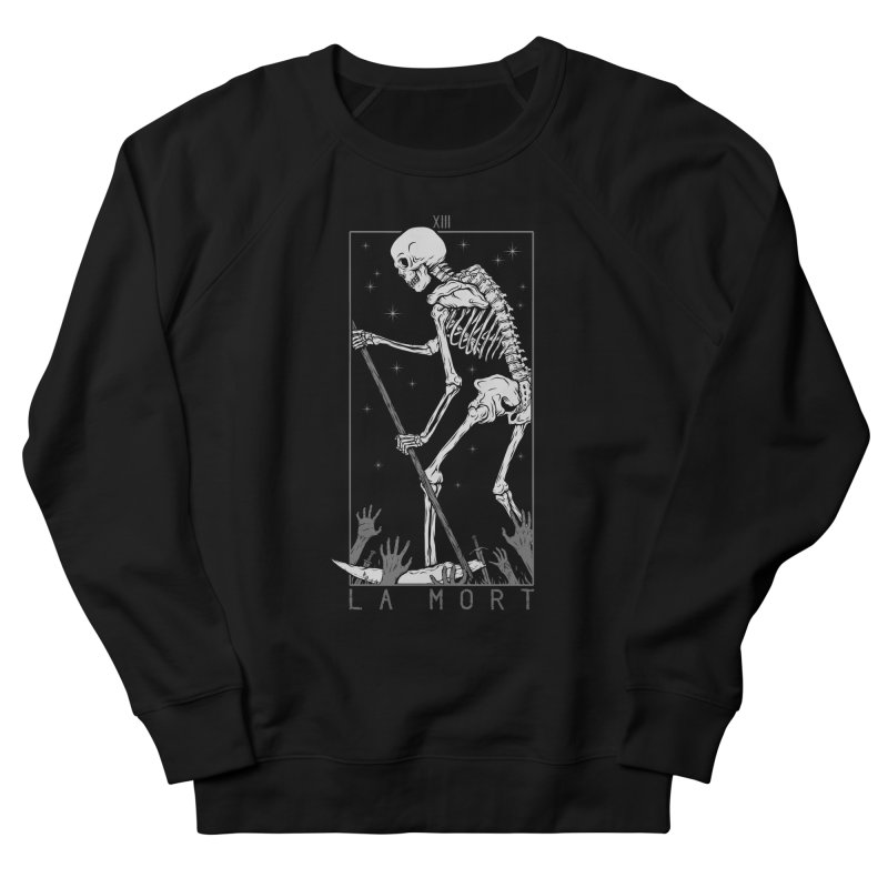 La Mort Men's French Terry Sweatshirt by Deniart's Artist Shop