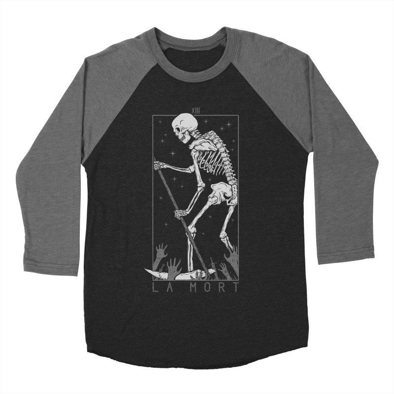 La Mort Women's Baseball Triblend Longsleeve T-Shirt by Deniart's Artist Shop