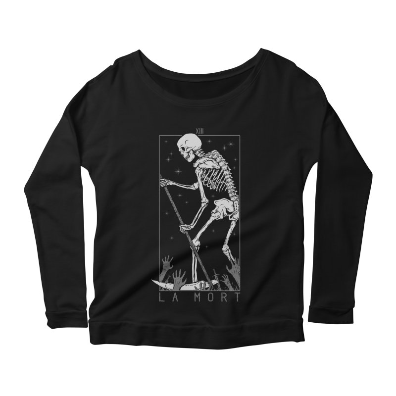 La Mort Women's Scoop Neck Longsleeve T-Shirt by Deniart's Artist Shop