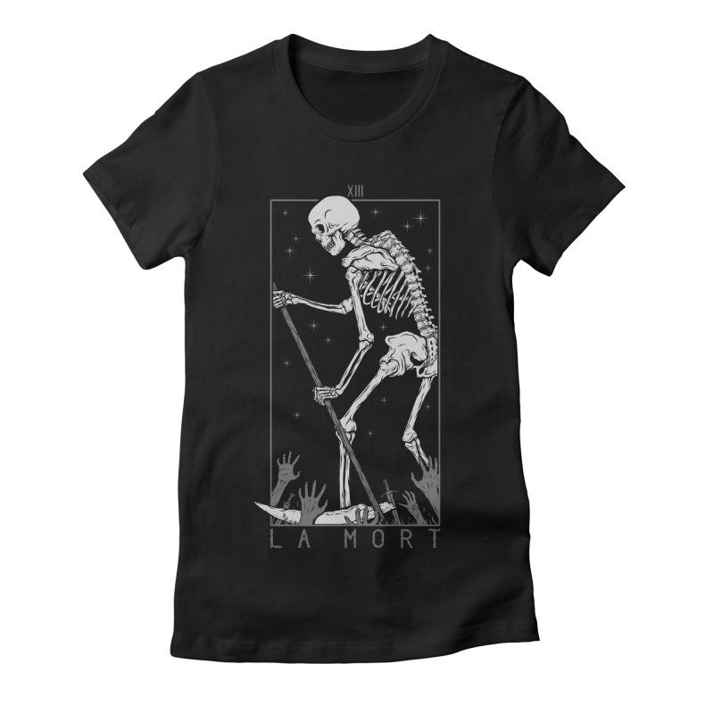 La Mort Women's Fitted T-Shirt by Deniart's Artist Shop