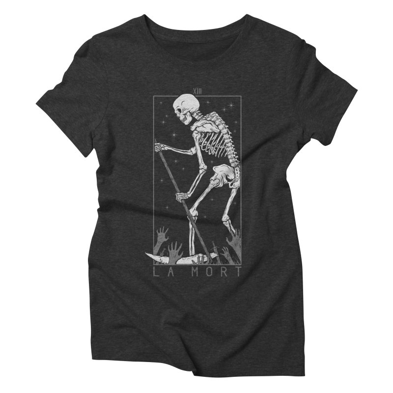 La Mort Women's Triblend T-Shirt by Deniart's Artist Shop
