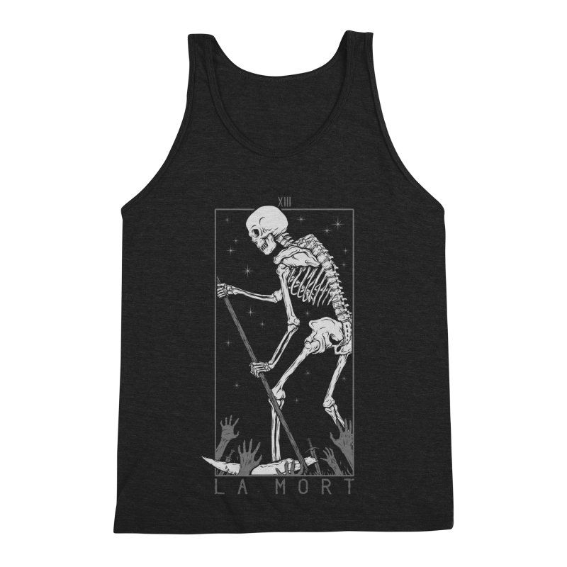 La Mort Men's Triblend Tank by Deniart's Artist Shop
