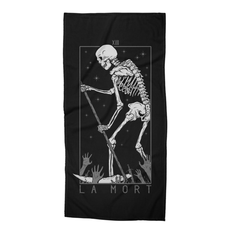 La Mort Accessories Beach Towel by Deniart's Artist Shop