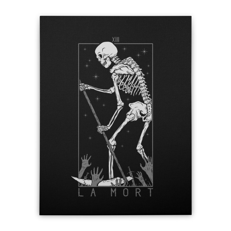 La Mort Home Stretched Canvas by Deniart's Artist Shop