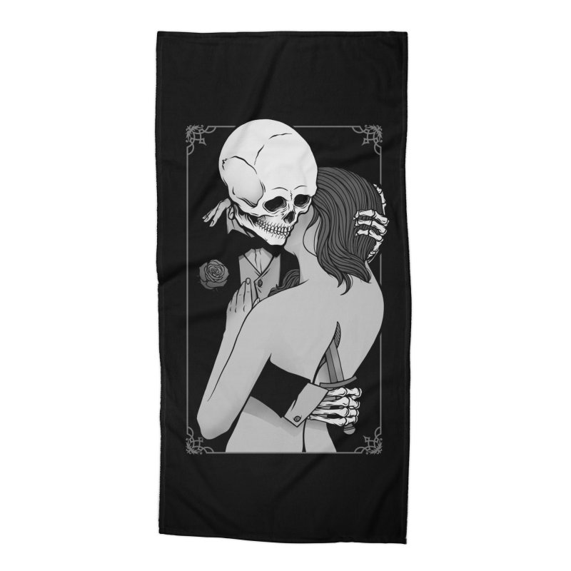 Love and Death Accessories Beach Towel by Deniart's Artist Shop