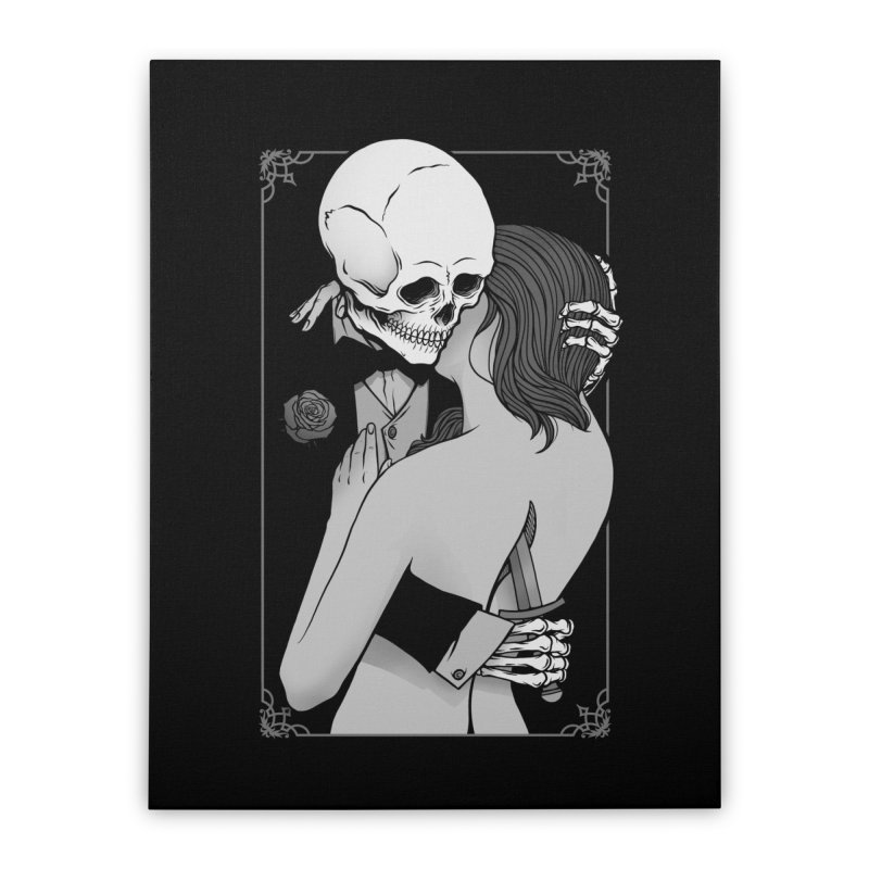 Love and Death Home Stretched Canvas by Deniart's Artist Shop