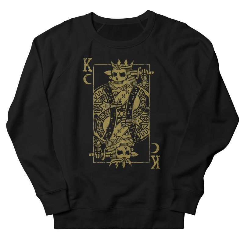 Suicide King Men's French Terry Sweatshirt by Deniart's Artist Shop