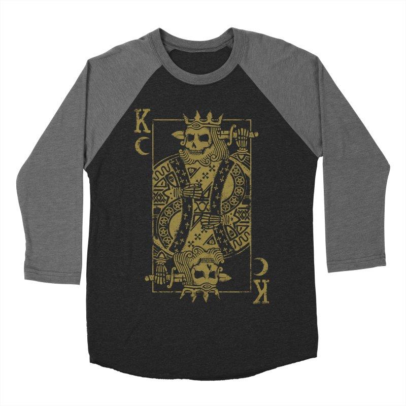 Suicide King Women's Baseball Triblend Longsleeve T-Shirt by Deniart's Artist Shop