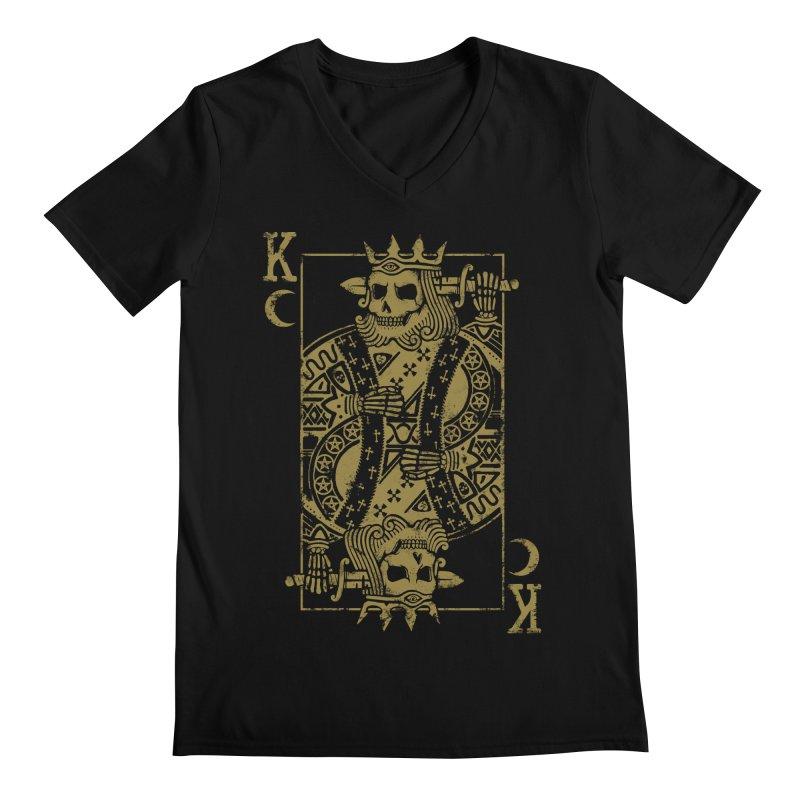 Suicide King Men's Regular V-Neck by Deniart's Artist Shop
