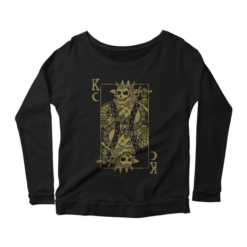 Suicide King Women's Scoop Neck Longsleeve T-Shirt by Deniart's Artist Shop