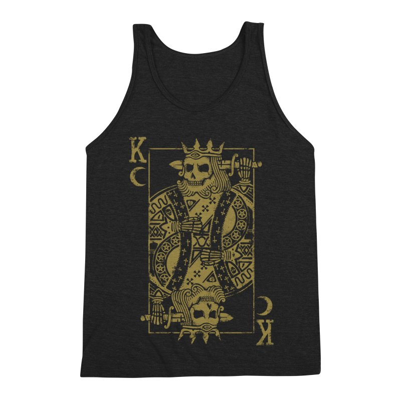 Suicide King Men's Triblend Tank by Deniart's Artist Shop