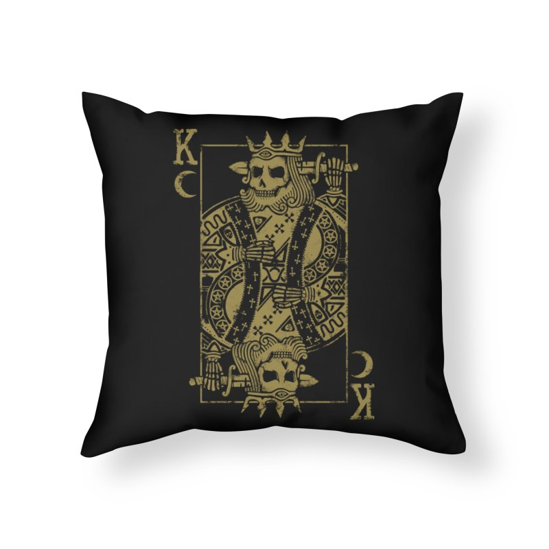 Suicide King Home Throw Pillow by Deniart's Artist Shop