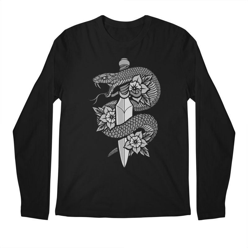 Snake & Dagger Men's Regular Longsleeve T-Shirt by Deniart's Artist Shop