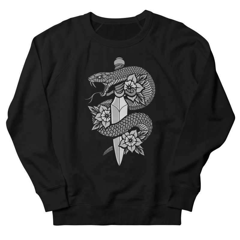 Snake & Dagger Men's French Terry Sweatshirt by Deniart's Artist Shop