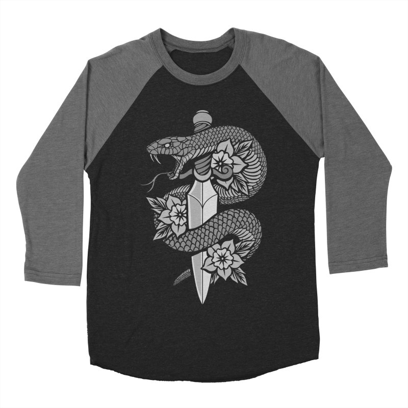 Snake & Dagger Women's Baseball Triblend Longsleeve T-Shirt by Deniart's Artist Shop