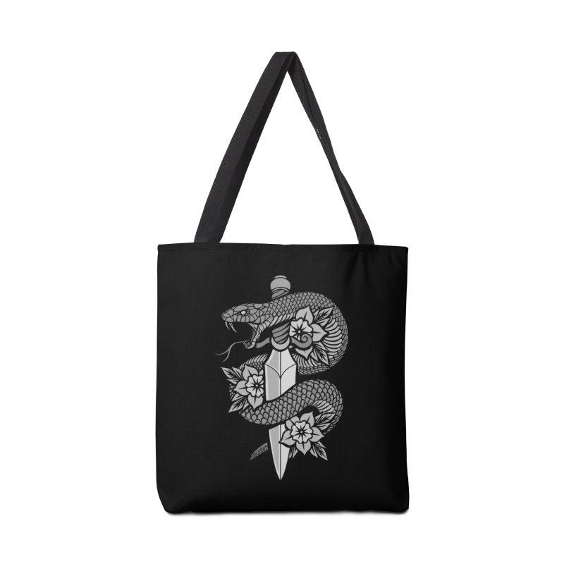 Snake & Dagger Accessories Bag by Deniart's Artist Shop