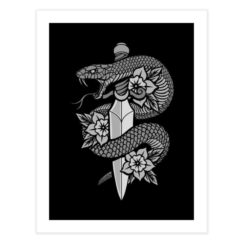 Snake & Dagger Home Fine Art Print by Deniart's Artist Shop