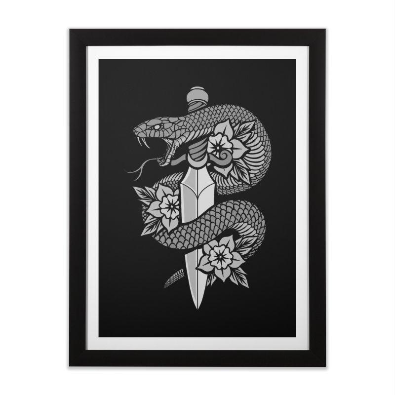 Snake & Dagger Home Framed Fine Art Print by Deniart's Artist Shop