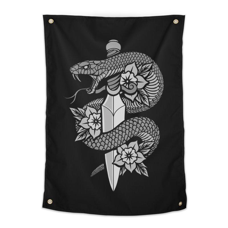 Snake & Dagger Home Tapestry by Deniart's Artist Shop