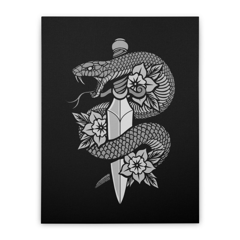 Snake & Dagger Home Stretched Canvas by Deniart's Artist Shop