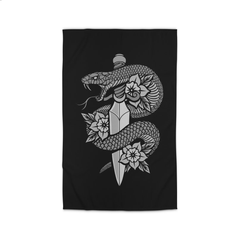 Snake & Dagger Home Rug by Deniart's Artist Shop