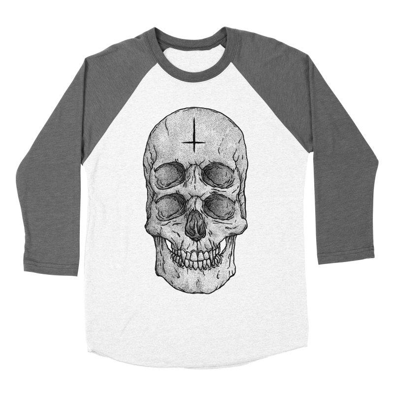 Skull Women's Baseball Triblend T-Shirt by Deniart's Artist Shop