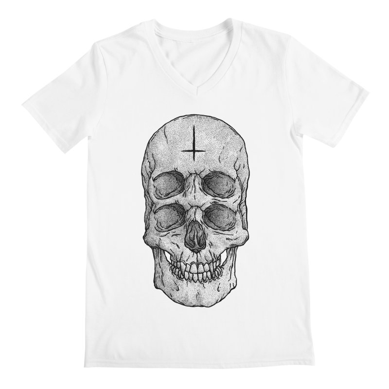 Skull Men's V-Neck by Deniart's Artist Shop