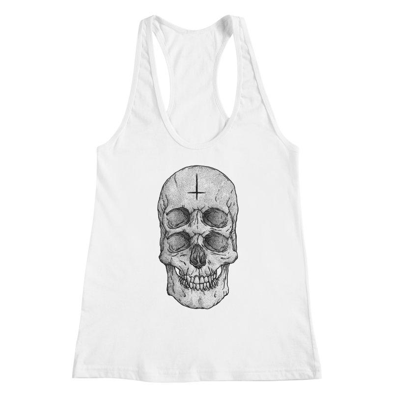 Skull Women's Racerback Tank by Deniart's Artist Shop