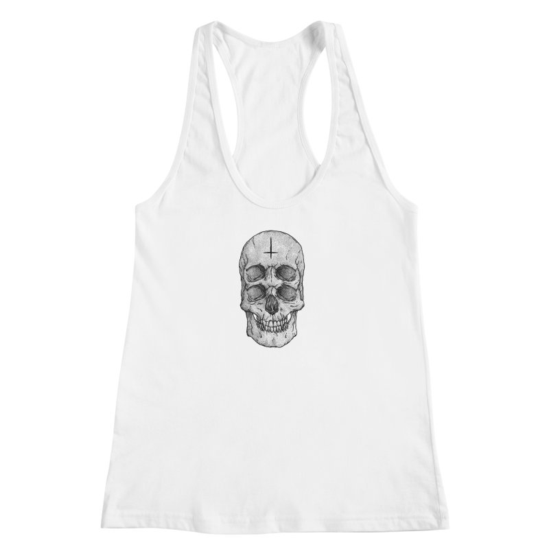 Skull Women's Racerback Tank by Deniart's Artist Shop