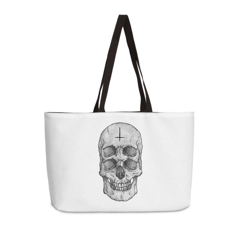 Skull Accessories Weekender Bag Bag by Deniart's Artist Shop