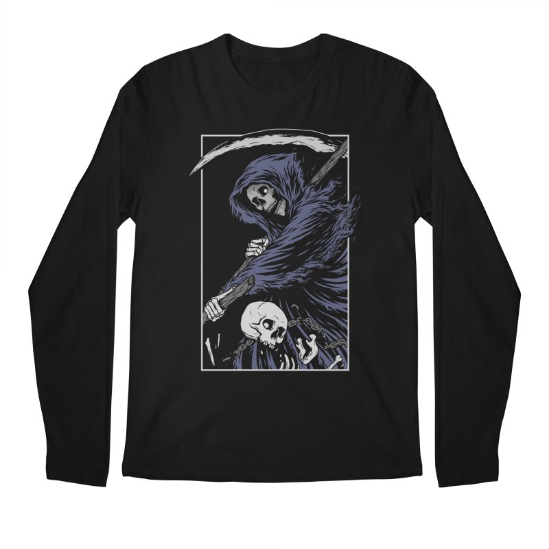 Reaper Men's Regular Longsleeve T-Shirt by Deniart's Artist Shop