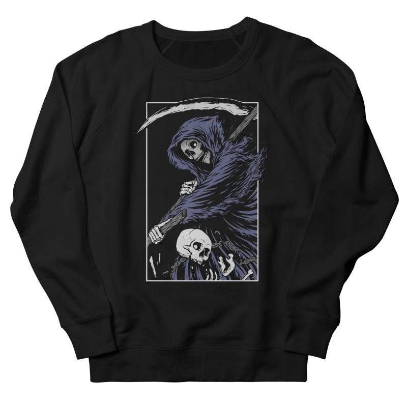 Reaper Men's French Terry Sweatshirt by Deniart's Artist Shop