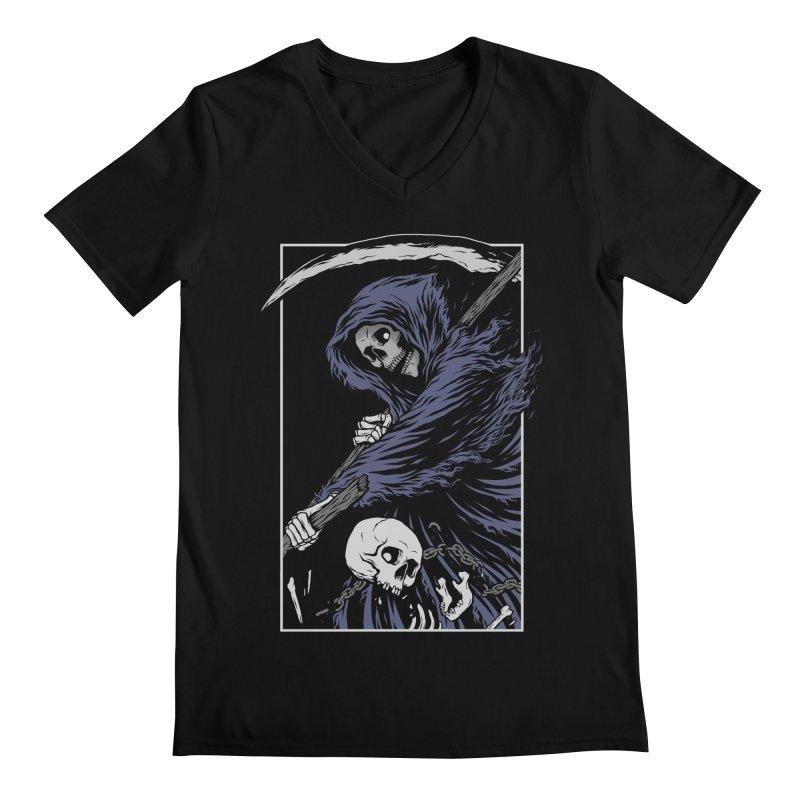 Reaper Men's Regular V-Neck by Deniart's Artist Shop